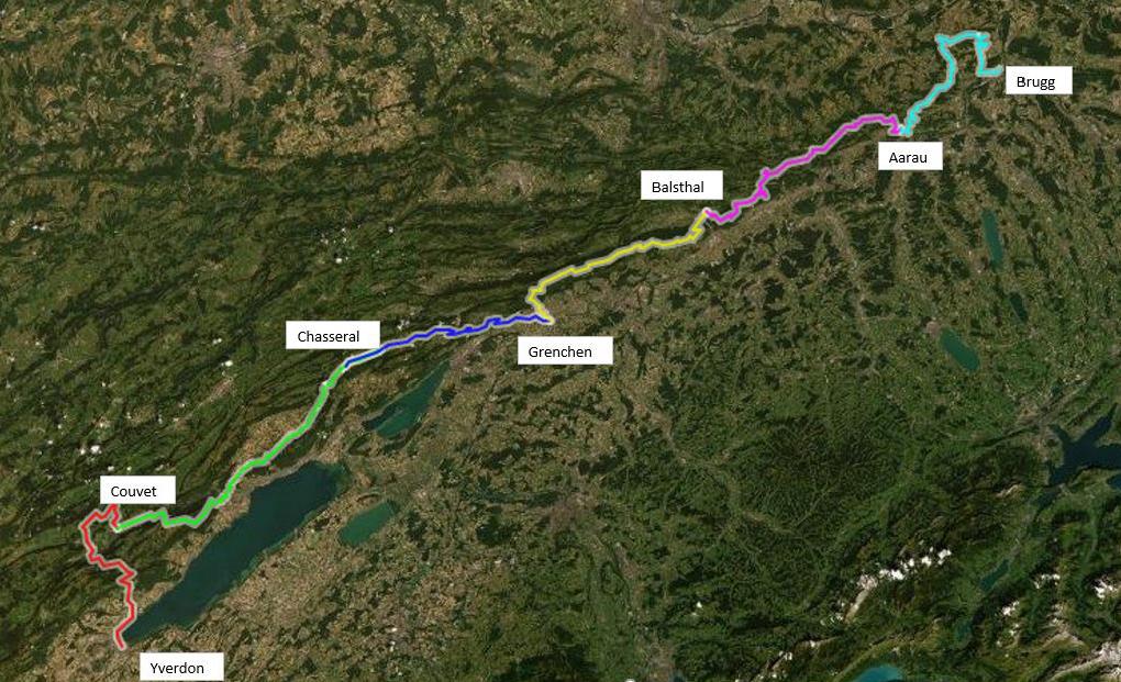 Höhenplan Bike Etappenfahrt
